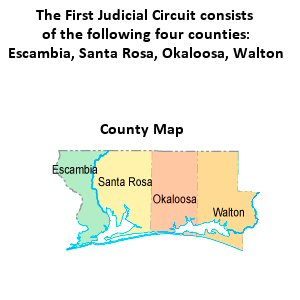 Description: Description: Description: Description: Description: First Judicial Circcuit County Map